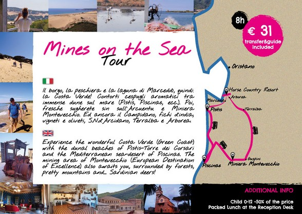 MINES ON THE SEA TOUR - PARTENZA DA  HORSE COUNTRY RESORT - ARBOREA