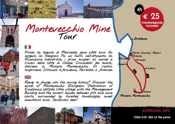MONTEVECCHIO MINE TOUR - PARTENZA DA  HORSE COUNTRY RESORT - ARBOREA